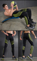 Wholesale 2016 New arrival yoga pants Quick dry hygroscopic and sweat releasing Running tight pant Stretch Fitness Pant for Men