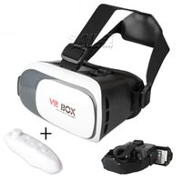 al por mayor games for mobile phone-VR Box Realidad Real Gafas 3D Gafas Y Bluetooth Gamepad Juegos 3D Para Android Teléfono Móvil Para Iphone Con Paquete De Venta Al Por Menor