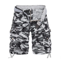 arrival cargo shorts - New Arrival Fashion Plaid Beach Shorts Mens Casual Camo Camouflage Shorts Military Short Pants Male Cargo Overalls