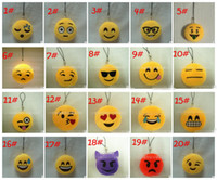 Wholesale 20 styles QQ Emoji plush Key Chains cm Emoji Smiley Small Keychain Emotion QQ Expression Stuffed Plush Doll Toy for Mobile Pendant