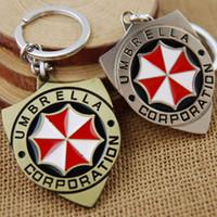 Wholesale Movie Series Key Chain Resident Evil Umbrella Corps Keyring Keychain for Keys Chaveiro Llavero Key Ring Key Holder porte MV044