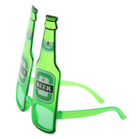 beer sunglasses - New Hot Hawaiian Summer Beach Novelty Sunglasses Beer Bottle Glasses Goggles for Hen Night Stag Fancy Dress Costume Party Green