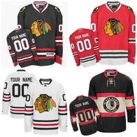 Wholesale 2016 Cheap Customized Men s Chicago Blackhawks Custom Any Name Any Number Ice Hockey Jersey Authentic Jersey Embroidery Logos