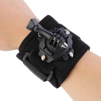 Wholesale For Go Pro Hero SJ4000 Action Camera HOT Gopro Accessories Degree Rotating Wrist Hand Strap Band Tripod Mount Holder