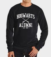 american apparel fleece - Autumn Harry Potter Hogwarts Inspired Students Magic Hoodies Harajuku Tracksuit For Men American Apparel Sweatshirt high quality