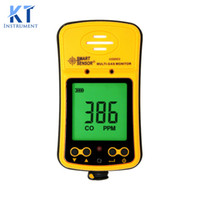 Wholesale- Smart Sensor AS8903 Handheld Hydrothion H2S monoxyde de carbone moniteur de détecteur de gaz 2in1