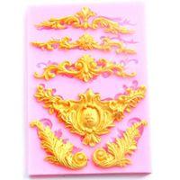 Stile Europeo Relief Lace silicone muffe della torta del fondente di cioccolato della muffa della torta di cottura della cucina bordo decorazione Strumenti CT375