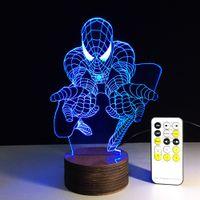 Wholesale Creative D Desk Lamp Superhero Series Images Versions Remote Control Decoration Room