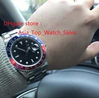 Venta caliente de alta calidad de alta calidad Asia 2813 Movimiento mecánico Reloj azul luminiscente 40mm GMT Cerámica Bisel 116710 Reloj automático hombres