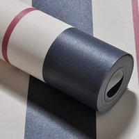 Wholesale Non woven Striped Wallpaper Roll wallpapers for Kind s living room bedroom wall paper for walls Mediterranean