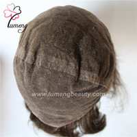 Pulsera de pelo personalizado personalizada Toupee estilo libre Piel fina V lazo KnotToupee Pieza de pelo natural buscando