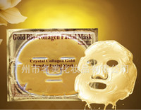 Wholesale Free shopping Bio Collagen Facial Mask Face Mask Crystal Gold Powder Collagen Facial Mask Moisturizing Anti aging g