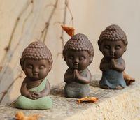antique tea - 2016 New Creative Small Porcelain Ceramic Buddha Monk Tea Pet Home Buddhism Arts Crafts Ornament Decoration