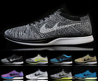 Wholesale new colors quality knitting RACER SHOES RAINBOW purple black red white blue gray WITHOUT SHOE BOX