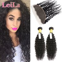 Indian Hair ace beauty - Indian pieces Bundles With X L ace Frontal Beauty Human Hair Products Virgin Hair Deep Wave Curly