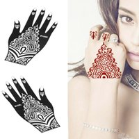 Wholesale set Right and Left Hands Professional Hand Painted Mexendi Templates Tattoo Stencils for Body Art Henna Tattoos S109