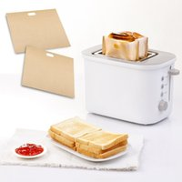 Wholesale 16 CM Reusable Toaster Bag Non Stick Bread Bag Sandwich Bags PTFE Coated Fiberglass Toast Microwave Heating Pastry Tools