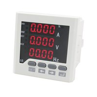 Wholesale ME UIF63 white and black single phase voltage ampere and frequency combined meter mm of high quality
