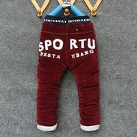 al por mayor 5t muchachos pantalones de pana-BibiCola Moda Otoño Invierno Bebé Pantalones Calientes Pantalones de Corduroy Niños pantalones de niños de alta calidad por 2-6 años