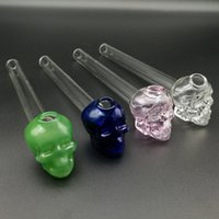 Wholesale Hot selling Colorful Glass oil burner pipe clear glass oil burner glass tube glass pipe oil nail in stock