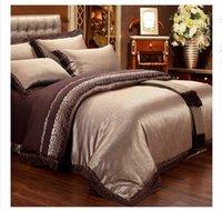 Wholesale 1set cover set European satin jacquard cotton quilt on the bed is m sheet bedding bag cotton