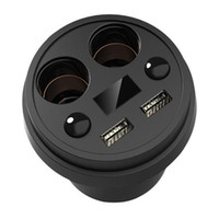 auto phone holder - Cup Holder Ports USB Car Charger V A Dual Cigarette Lighter Sockets Auto Charger Phone Adapter Charger For iPhone Samsung Charging