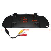 Monitor 22 venta caliente 5 monitor de la entrada del vídeo del monitor 2ch del espejo de la exhibición del coche Hd de la pulgada 800 * 480 Ayuda del estacionamiento, envío libre