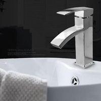 bathroom sinks tops - Chrome Finished Bathroom Sink Faucet Top quality Brass Waterfall Basin Tap Chrome Faucet Hot And Cold Water Mixer Ceramic Valve