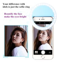 beauty photography lighting - LED Selfie Lights RK12 Cell Phone Night Out Lamp Lens Selfie Ring Beauty Clip Enhancing Photography Universal For iphone plus Samsung