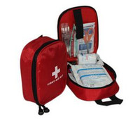 Wholesale Hot sale cheap First Aid Kit Traveler Emergency Bag Emergency Survival FIRST AID KIT Bag Treatment Pack Travel Sports Medical Red
