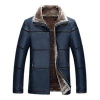Wholesale Winter Jacket Man Sheepskin Coat Men Turn Down Collar Plus Size XL