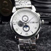 automatic strapping machines - Fashion luxurious classic precise multifunctional machine imported sapphire mirror back through the stainless steel watch strap Mens Watch