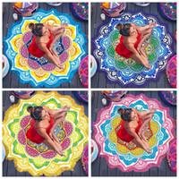 Wholesale Round Beach Blankets Designer Mandala Tapestry Indian Wall Hanging Beach Throw Towel Tassel Yoga Mat Carpet Polyester Printed Blanket F369