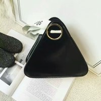 bamboo manufacturing - South Korea triangle bag modelling novel and unique manufacturing is not the same feeling Not the same style South Korea fashion handbag