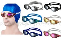 Wholesale Unisex Adult Adjustable Eye Protect Non Fog Anti UV Swimming Swim Goggle Glasses DM60509001