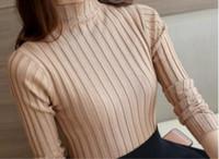 2016 nuovo stile della Corea signore di mezza Turtle Neck Pullover maglione a maniche lunghe Slim basa la camicia