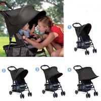 baby parasols - Black Folding Pop Up UV Sun Shade Canopy Parasol Hood for Baby By or Stroller Blocks UV