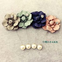 Wholesale Manual Brooch Lotus FLOWER Handmade BroochLittle mo BroochSouth Korea accessories anchor pin horse brooches