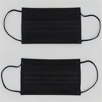 Wholesale 5000Pcs Layer Non Woven Fabric Black Disposable Face Mask Medical Mask Earloop Anti Dust Surgical Mouth Masks Anti fog Respirator