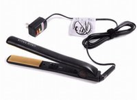 Wholesale HOT Pro quot Ceramic Ionic Tourmaline Flat Iron Hair Straightener with Retail Box fast ship by DHL