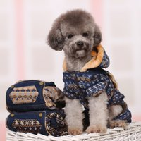 Wholesale dog clothes Teddy clothes fall and winter clothes than the VIP clothing puppies autumn and winter clothing thicker four feet cott