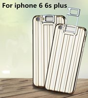 Valise valise valise France-Sac de luxe Trolley Mallette Housse pour iphone 6 6s plus Housse de protection protectrice Sacoche bagage Trolley Support Holder Soft Case