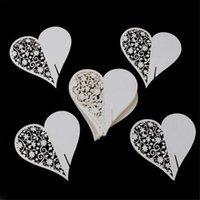 Wholesale set Wedding Table Decoration Place Cards Wedding Party Decoration Laser Cut Heart Floral Wine Glass Place Cards