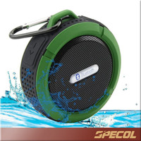 Wholesale C6 IPX7 wireless Bluetooth Speaker Outdoor Sports Shower Portable Waterproof Suction Cup Handsfree MIC Voice Box For Iphone Samsung Note7