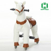 Wholesale Mechanical walking Outdoor playground toy horse on wheels HI CE Rude horse for Kid gifts birthday gifts