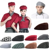 bakers pink - PC Fashion Men Women Chef Hat Catering Baker Kitchen Cook Duckbill Beret Golf Caps