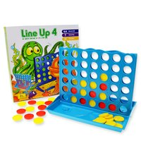 Wholesale connect game Line up Plus Players Age Board games Puzzle games Family Fun Kids game with foldable board a nice Christmas Gift