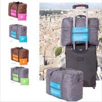 Wholesale 32L Large Capacity luggage Packing Tote Shoulder Travel Shopping Big Folding Bag Clothes Storage Pouch Organizer Carry on Duffle Trolley Bag