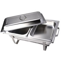 Wholesale 2 Pack of Quart Rectangular Chafing Dish Stainless Steel Full Size