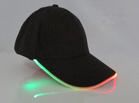 led hats - dhgate Fashion LED lights Glow Club Party Sports Black Fabric Travel Hat Cap For Adult Baseball led Caps Luminous colors available